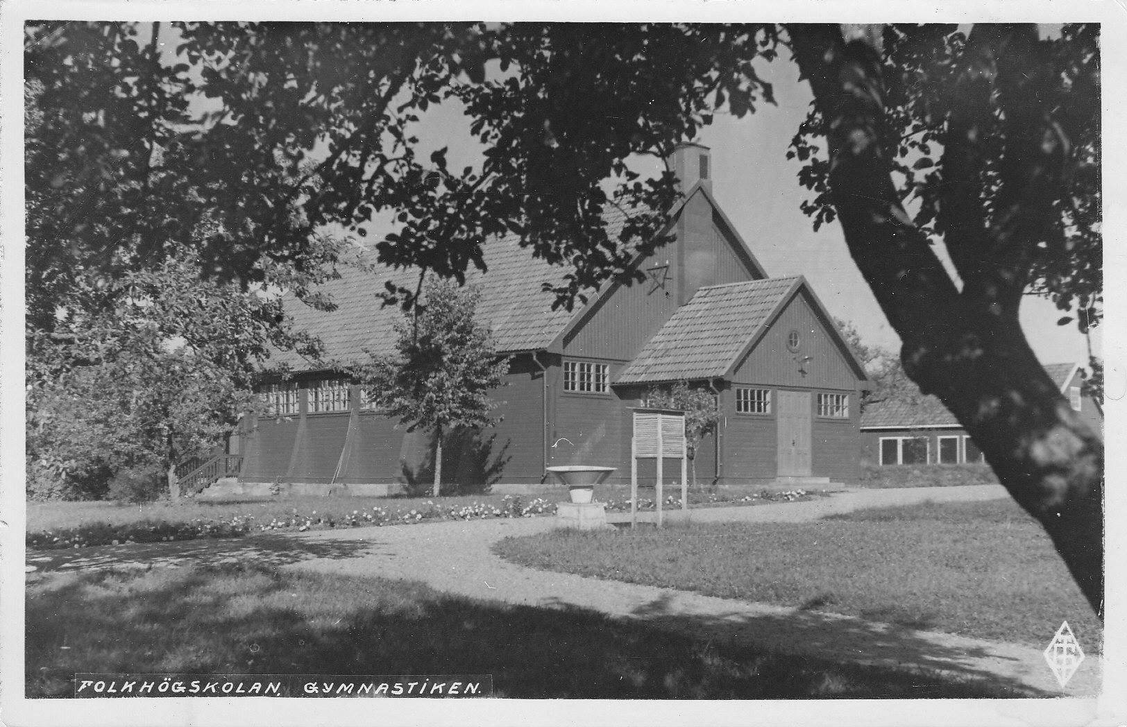 Folkhögskolans gymnastikhall. Byggdes på 1910-talet.