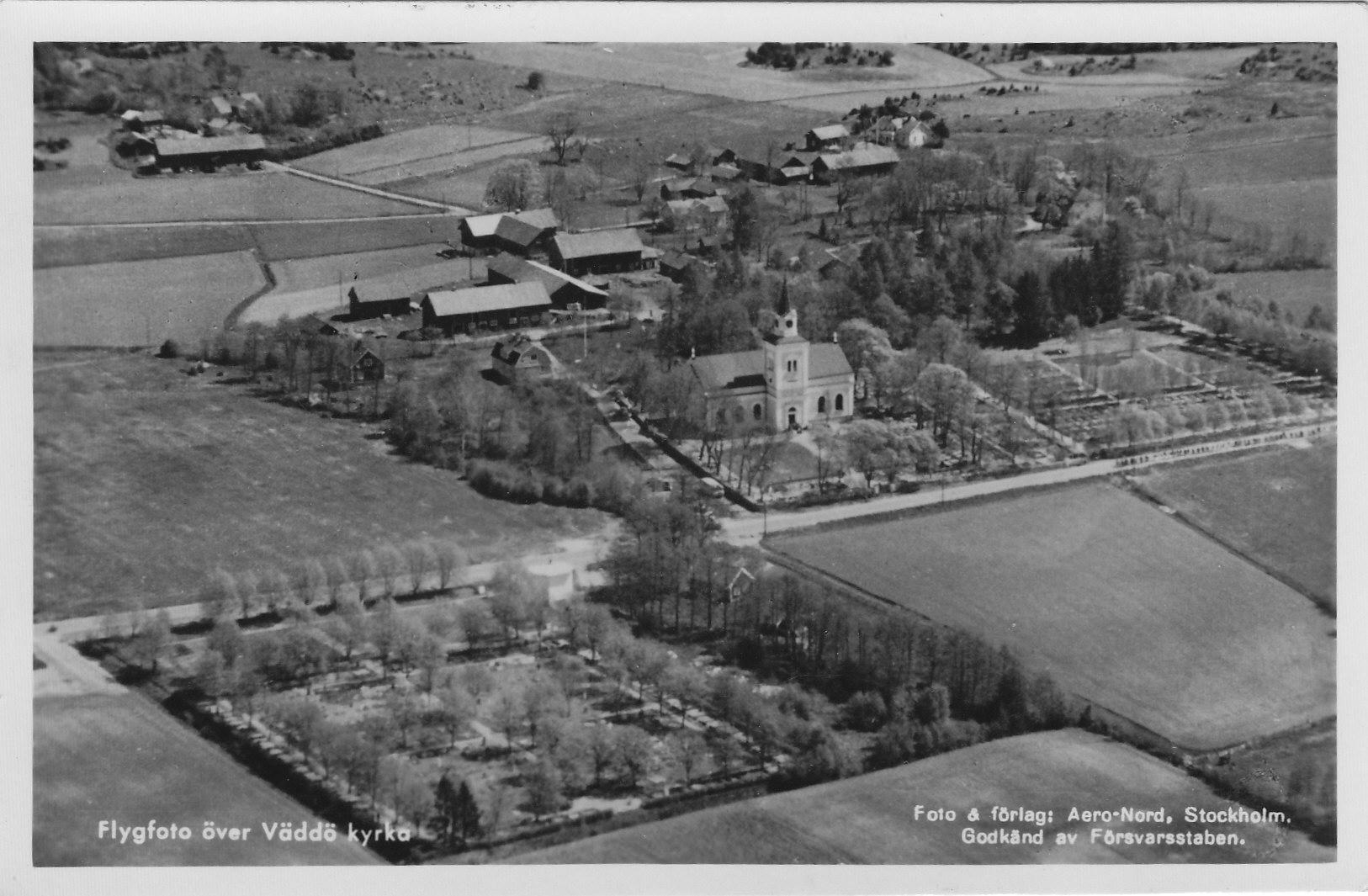 Flygfoto kyrkan